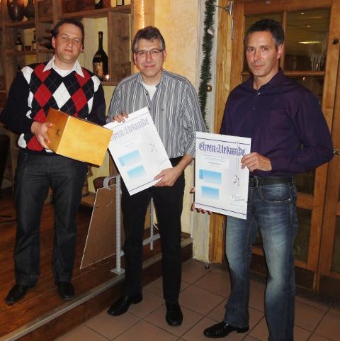 Ralf Stiel ehrt Klaus und Gerhard Merx