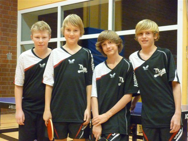 Die Schüler-A2-Mannschaft des TTV Mühlhausen