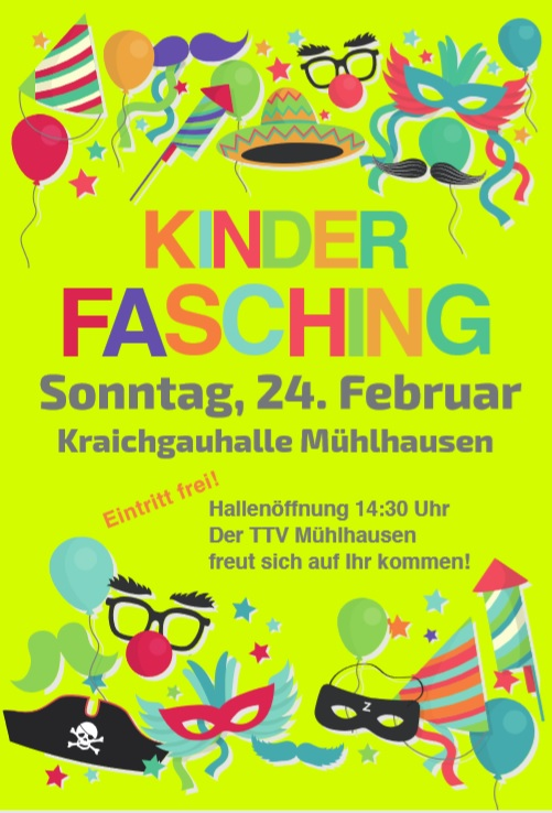 Kinderfaschingsball am 24. Februar
